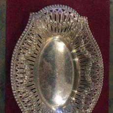 Antigüedades: BANDEJA PANERA PLATA S. XIX. Lote 109299215