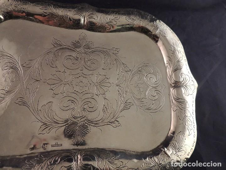 Antigüedades: BANDEJA PLATA S. XIX CORDOBA PLATERO RAFAEL DE CORDOBA - Foto 5 - 109306111