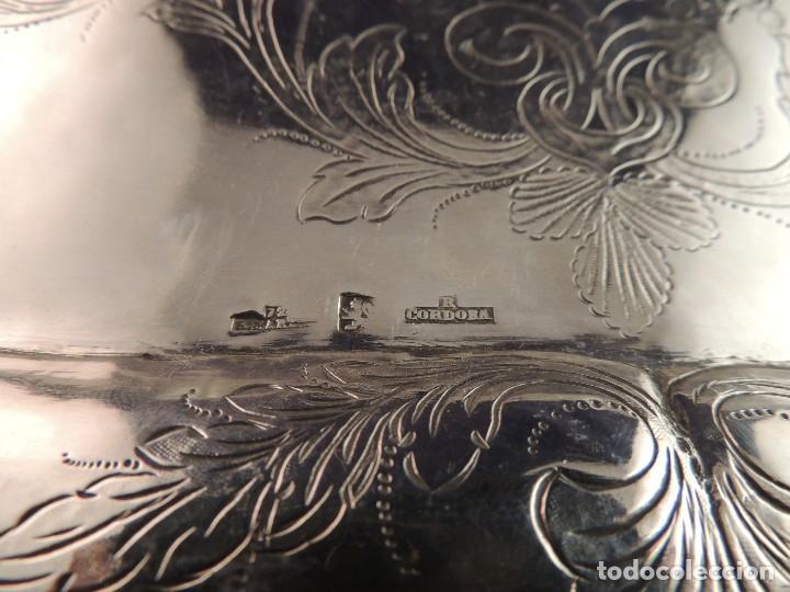 Antigüedades: BANDEJA PLATA S. XIX CORDOBA PLATERO RAFAEL DE CORDOBA - Foto 7 - 109306111