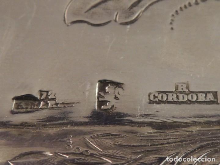 Antigüedades: BANDEJA PLATA S. XIX CORDOBA PLATERO RAFAEL DE CORDOBA - Foto 8 - 109306111