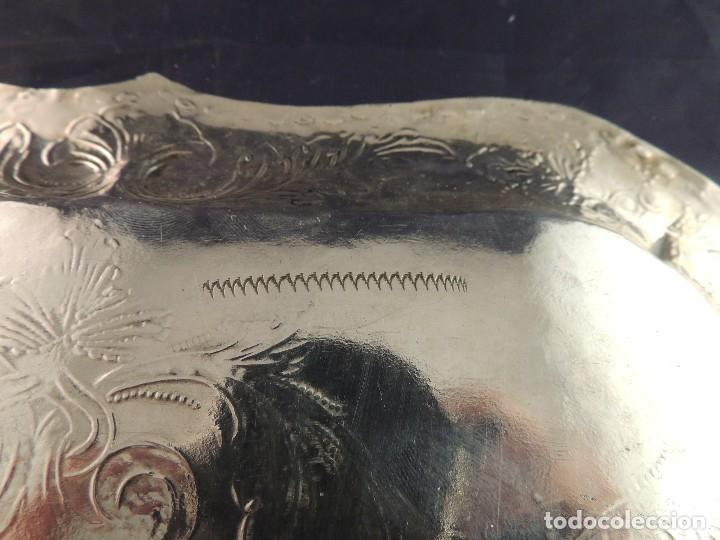 Antigüedades: BANDEJA PLATA S. XIX CORDOBA PLATERO RAFAEL DE CORDOBA - Foto 10 - 109306111