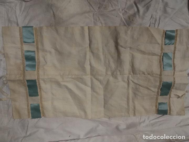 Antigüedades: funda almohada bordada fines XIX - Foto 2 - 109311047