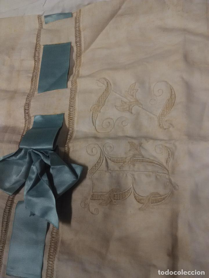 Antigüedades: funda almohada bordada fines XIX - Foto 4 - 109311047