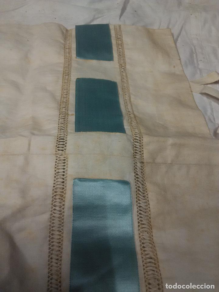 Antigüedades: funda almohada bordada fines XIX - Foto 5 - 109311047