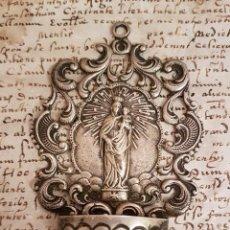 Antigüedades: PRECIOSA PILA BENDITERA ANTIGUA EN PLATA ANTIGUA. Lote 109314559