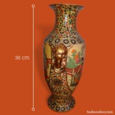 Antigüedades: JARRON CHINO SATSUMA PINTADO A MANO. Lote 109316015