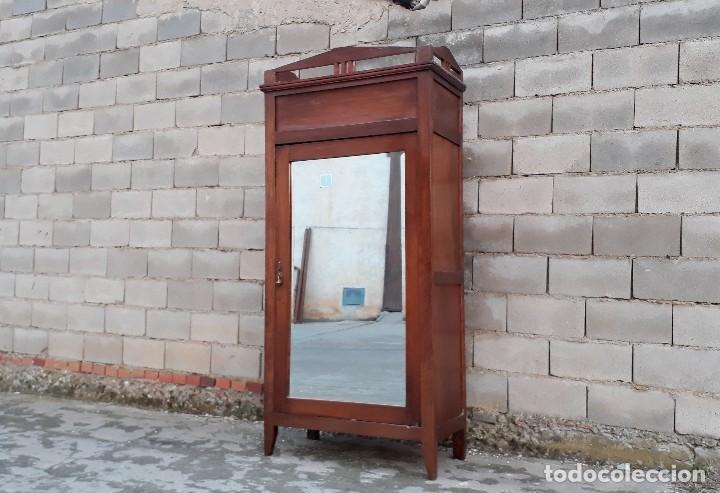 Antigüedades: Armario antiguo estilo modernista. Armario ropero con espejo art decó nouveau retro vintage - Foto 3 - 109319111