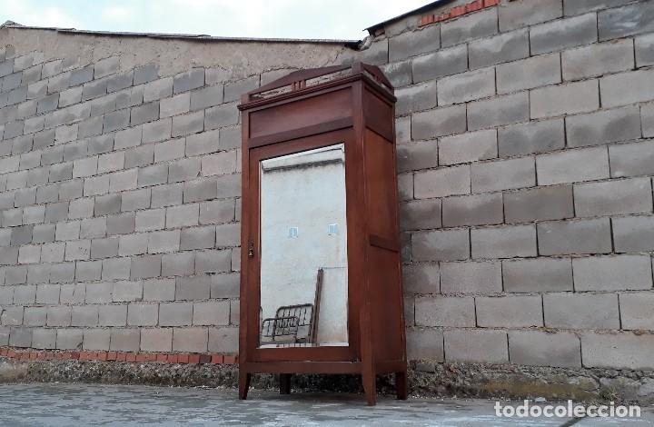 Antigüedades: Armario antiguo estilo modernista. Armario ropero con espejo art decó nouveau retro vintage - Foto 5 - 109319111