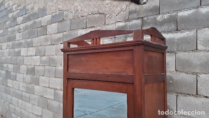 Antigüedades: Armario antiguo estilo modernista. Armario ropero con espejo art decó nouveau retro vintage - Foto 6 - 109319111