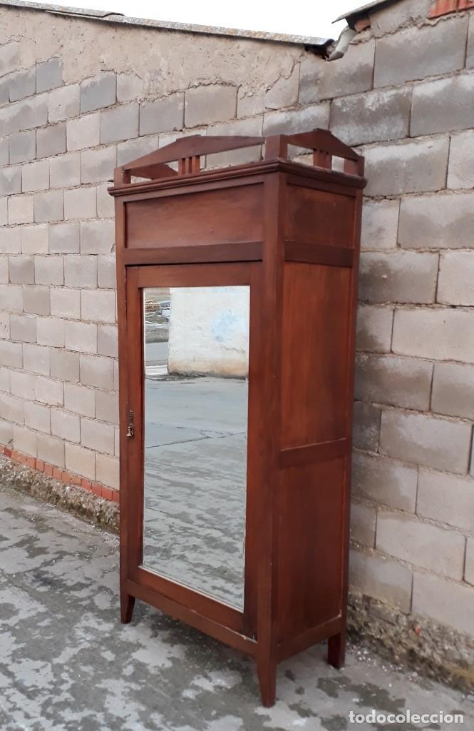 Antigüedades: Armario antiguo estilo modernista. Armario ropero con espejo art decó nouveau retro vintage - Foto 12 - 109319111