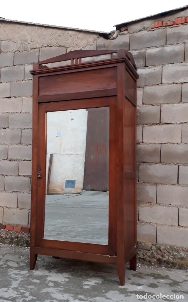 Antigüedades: Armario antiguo estilo modernista. Armario ropero con espejo art decó nouveau retro vintage - Foto 13 - 109319111