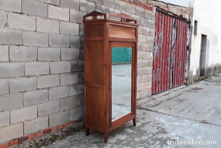Antigüedades: Armario antiguo estilo modernista. Armario ropero con espejo art decó nouveau retro vintage - Foto 14 - 109319111