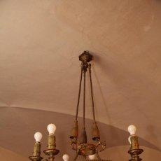 Antigüedades: LAMPARA BRONCE RENACIMIENTO.. Lote 109319735