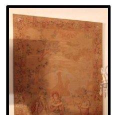 Antigüedades: TAPIZ AÑOS 40 ESCENAS GALANTES.. Lote 109320451