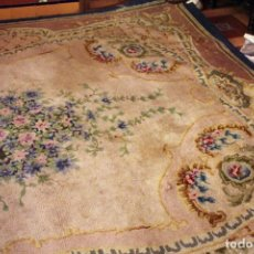 Antigüedades: ALFOMBRA REAL FABRICA LANA. Lote 109321083
