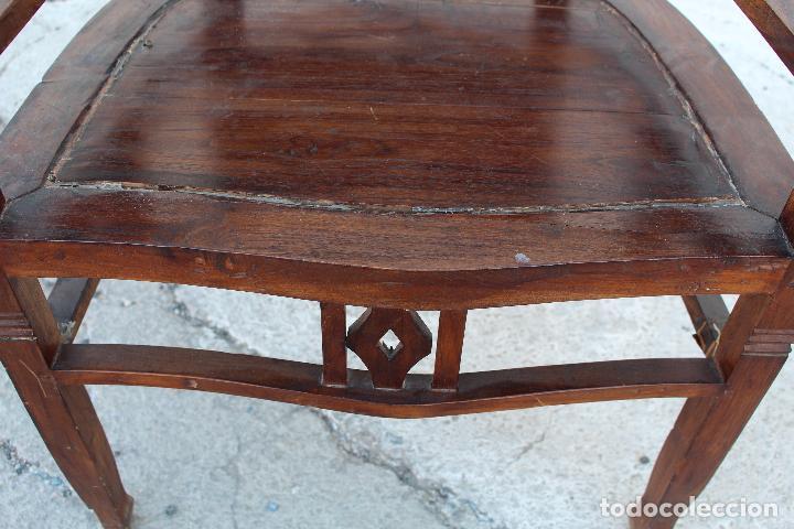 Antigüedades: sillon de madera para restaurar - Foto 2 - 109327595