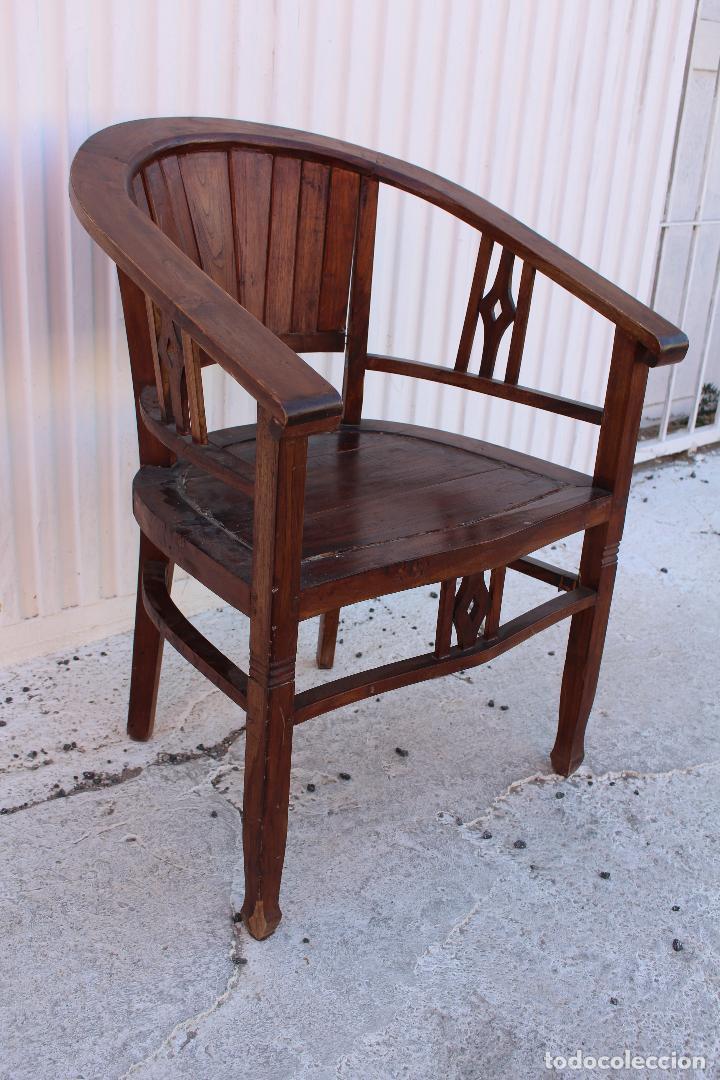 Antigüedades: sillon de madera para restaurar - Foto 8 - 109327595