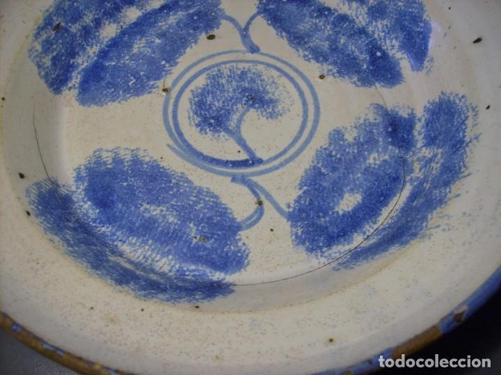 Antigüedades: PLATO CERÁMICA ARAGONESA DE MUEL XIX - Foto 5 - 109330827
