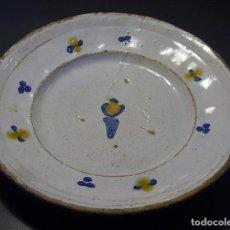Oggetti Antichi: PLATO CERÁMICA ARAGONESA DE MUEL XVIII. Lote 109332747