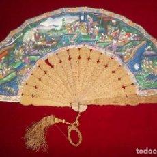 Antigüedades: ABANICO CHINO MIL CARAS, SIGLO XIX.. Lote 109334911