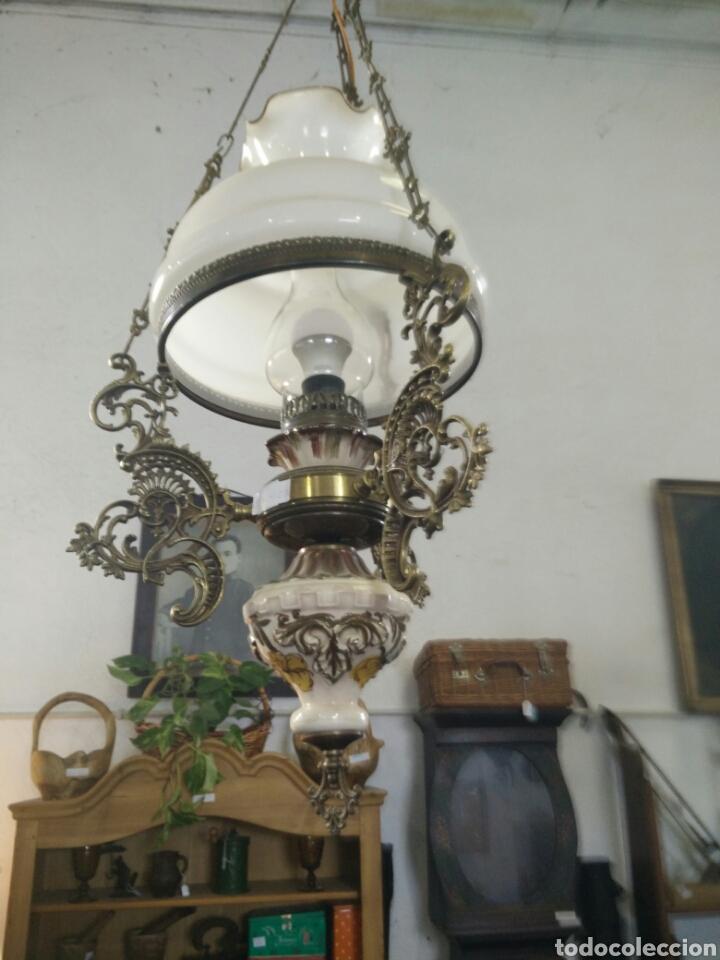 LAMPARA QUINQUE ANTIGUA (Antigüedades - Iluminación - Lámparas Antiguas)