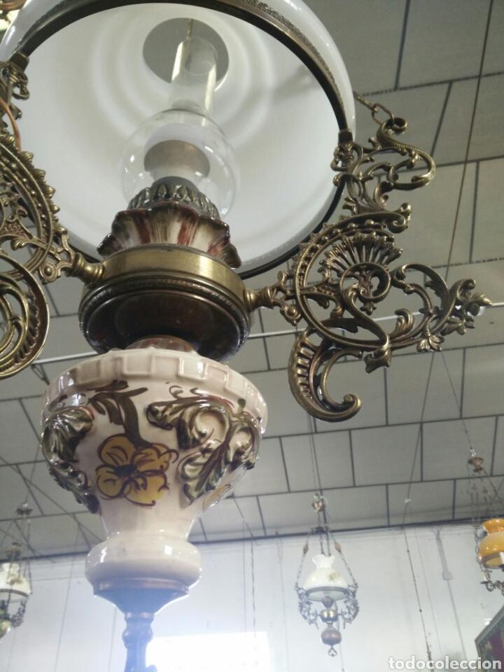 Antigüedades: Lampara quinque antigua - Foto 2 - 109350554