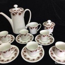 Antigüedades: JUEGO DE CAFÉ COMPLETO ESTILO SARGADELOS - ROYAL CHINA VIGO -. Lote 109352847