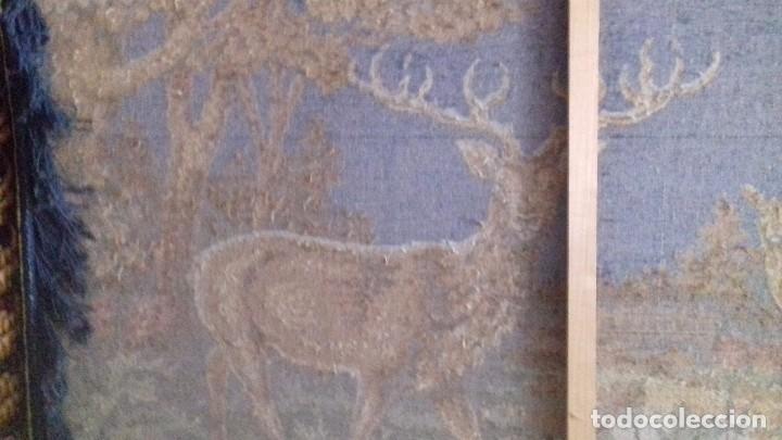 Antigüedades: Tapiz de ciervos años 70 - Foto 8 - 109366959