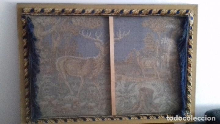 Antigüedades: Tapiz de ciervos años 70 - Foto 10 - 109366959