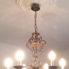 Antigüedades: ANTIGUA LAMPARA DE BRONCE. Lote 109370907
