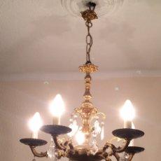 Antigüedades: ANTIGUA LAMPARA DE BRONCE. Lote 109371048