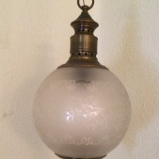 Antigüedades: ANTIGUA LAMPARA DE LATON. Lote 109371600