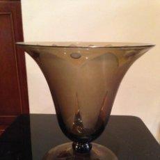 Antigüedades: JARRÓN DE CRISTAL AÑOS 40. Lote 109373627