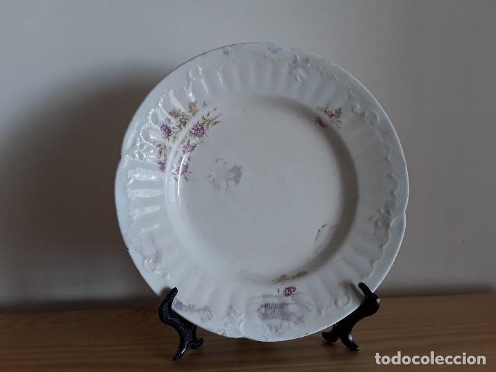 Antigüedades: Lote 11 platos cerámica San Juan - Foto 2 - 109376259
