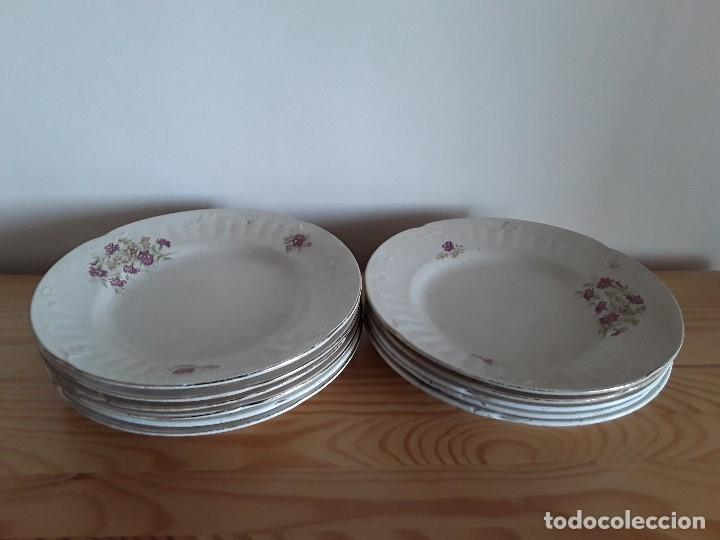 Antigüedades: Lote 11 platos cerámica San Juan - Foto 36 - 109376259