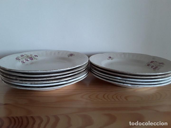 Antigüedades: Lote 11 platos cerámica San Juan - Foto 37 - 109376259