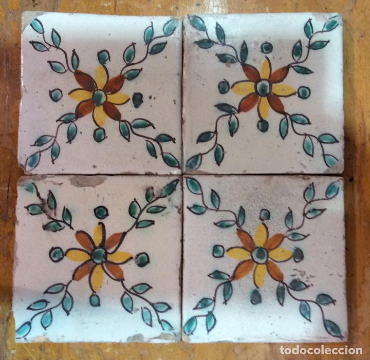 AZULEJOS CATALANES S. XVIII (Antigüedades - Porcelanas y Cerámicas - Azulejos)