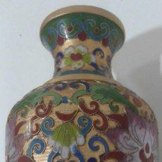 Antigüedades: JARRÓN CHINO DE CLOISONNE . Lote 109379259