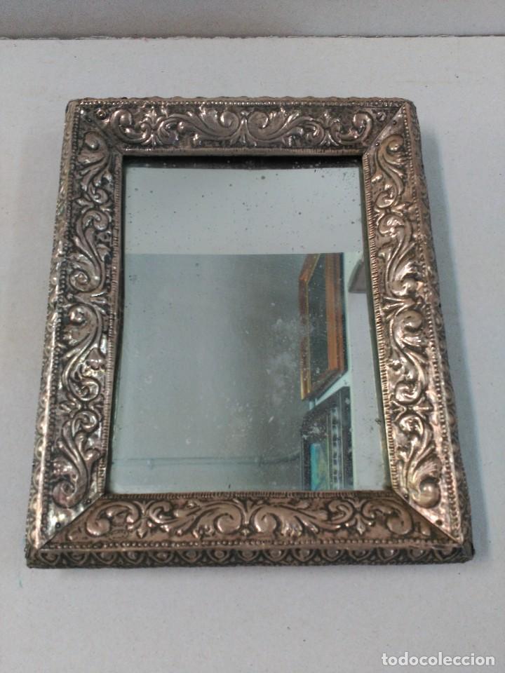 espejo con marco de plata punzonada. - Comprar Espejos Antiguos en ...