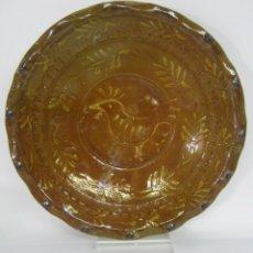 Antigüedades: 30 CM - ANTIGUO PLATO FUENTE CON PAJARO. Lote 109381123