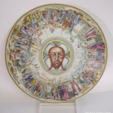 Antigüedades: BELLO PLATO MONASTERIO DE LA STA. FAZ - ALICANTE - ROYAL CHINA VIGO. Lote 152836060