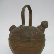 Antigüedades: ANTIGUO BOTIJO DE COBRE. Lote 109393819
