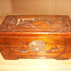 Antigüedades: ANTIGUA CAJA DE MADERA. Lote 109394363