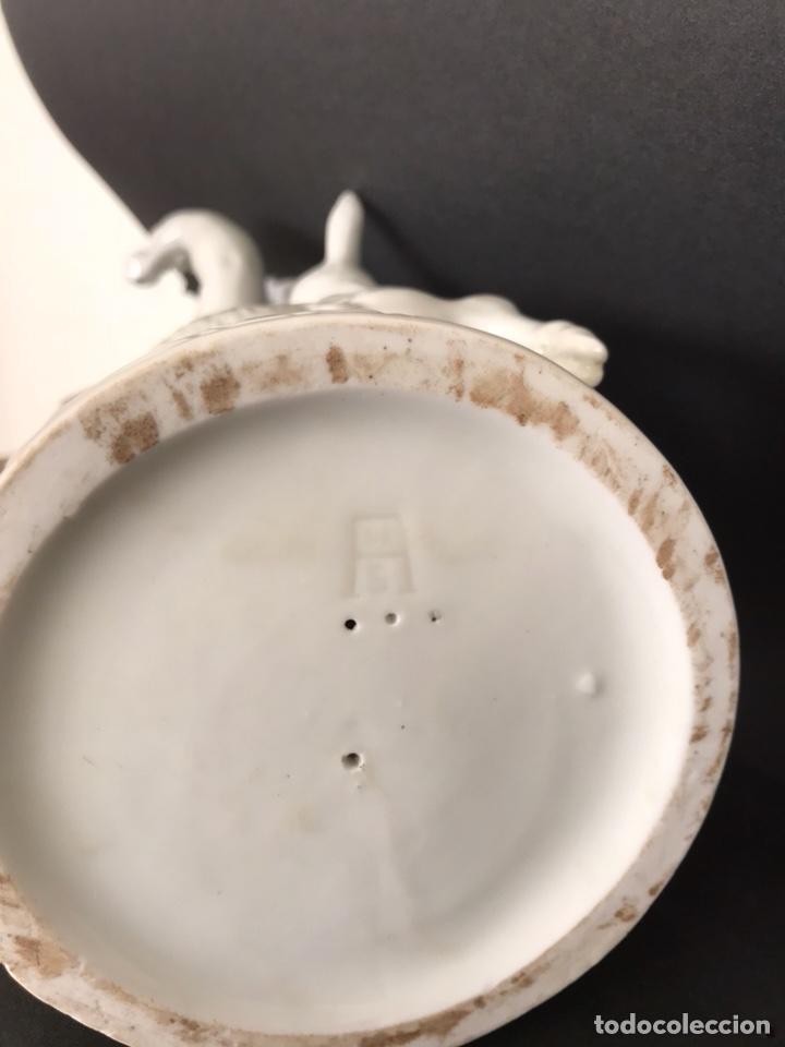 Antigüedades: Figura Porcelana- Angelito Cordero- Algora- 20 cm - Foto 13 - 109394688