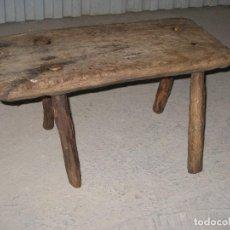 Antigüedades: ANTIGUA BANQUETA ARTESANAL. Lote 109394891