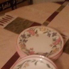 Antigüedades: LOTE DE 6 DE CERAMICA STAFFORDSHIRE TABLEWARE CHELSEA ENGLAND.MOTIVO FLORAL.. Lote 109408707