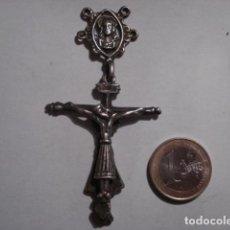 Antigüedades: PRECIOSA CRUZ CRUCIFIJO PLATA CRISTO BURGOS Y VIRGEN PILAR S XVII - PIEZA UNICA - TENGO MAS EN VENTA. Lote 109413199