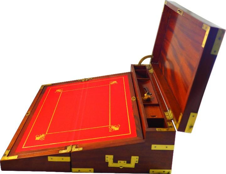 EXCEPCIONAL ESCRITORIO TRIPLE APERTURA ÉPOCA REGENCIA. CIRCA 1810 (Antigüedades - Muebles Antiguos - Escritorios Antiguos)