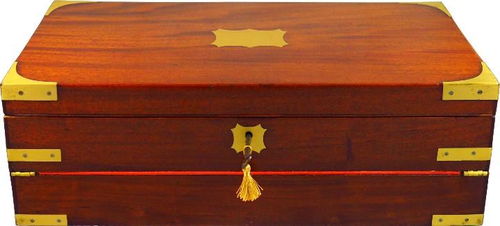 Antigüedades: Excepcional Escritorio triple apertura Época Regencia. Circa 1810 - Foto 2 - 53189868