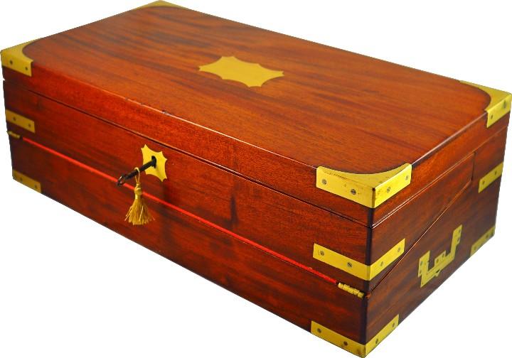 Antigüedades: Excepcional Escritorio triple apertura Época Regencia. Circa 1810 - Foto 3 - 53189868